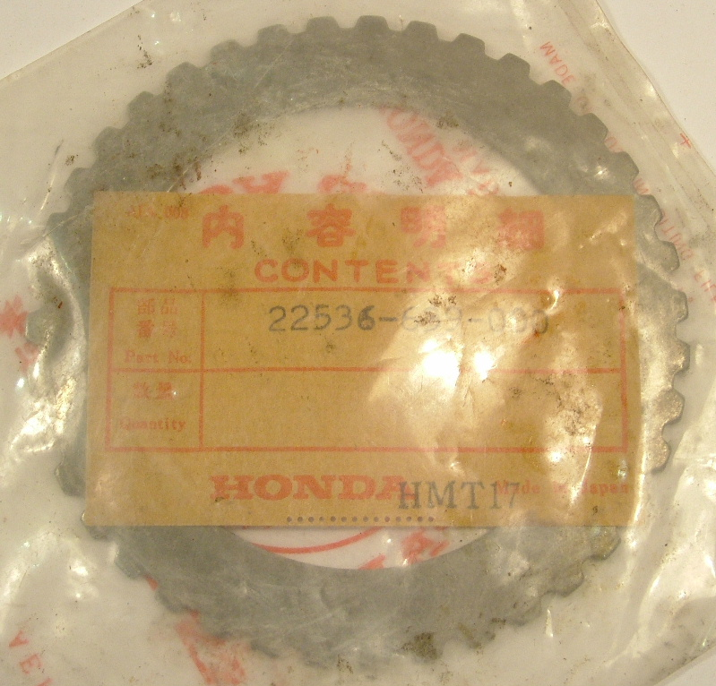 Accord 1976-79 Prelude 1979 Civic 73-80 Plate, clutch - NOS