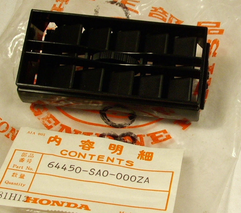 Honda Civic 1980-81 Air Vent black - NOS