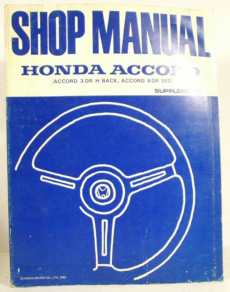 1983 Honda Accord Shop Service Repair Manual Book